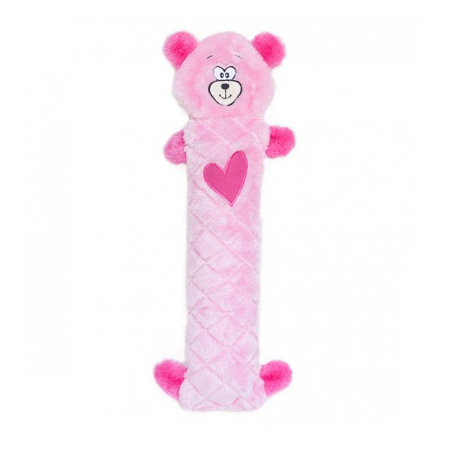 Jigglerz Valentine's Dog Toy - Pink Bear