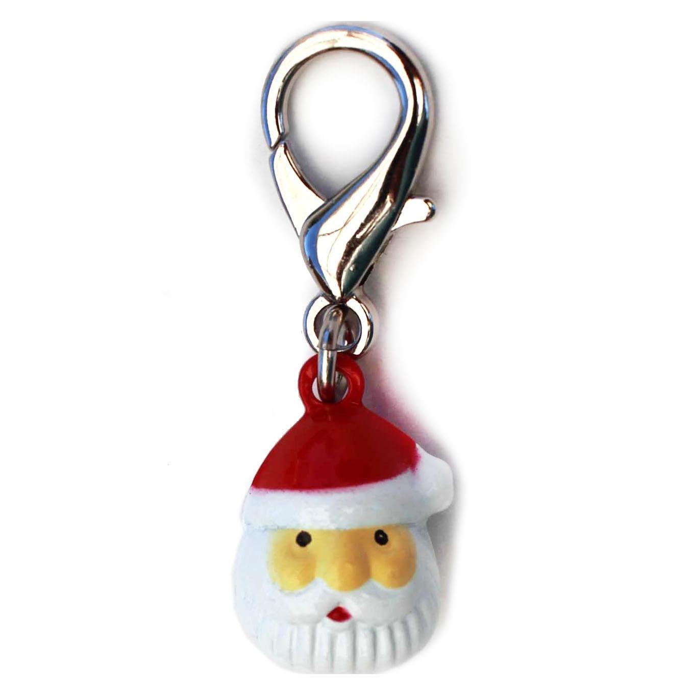 Jingle Santa Dog Collar Charm