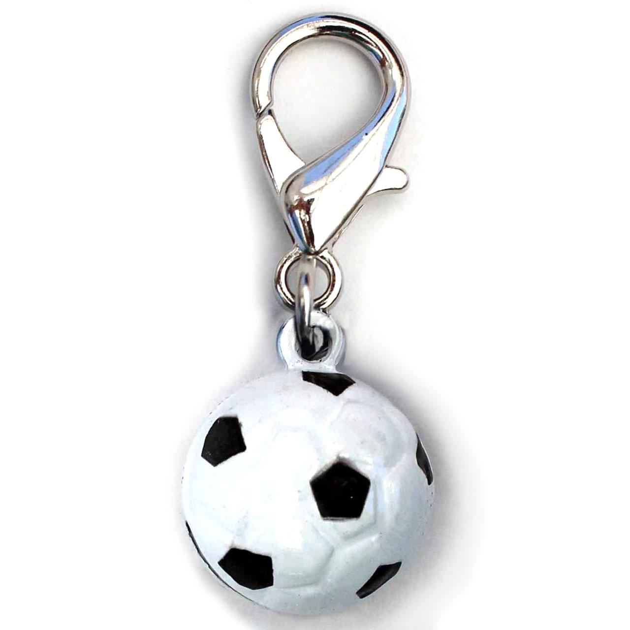 Jingle Soccer Ball Dog Collar Charm