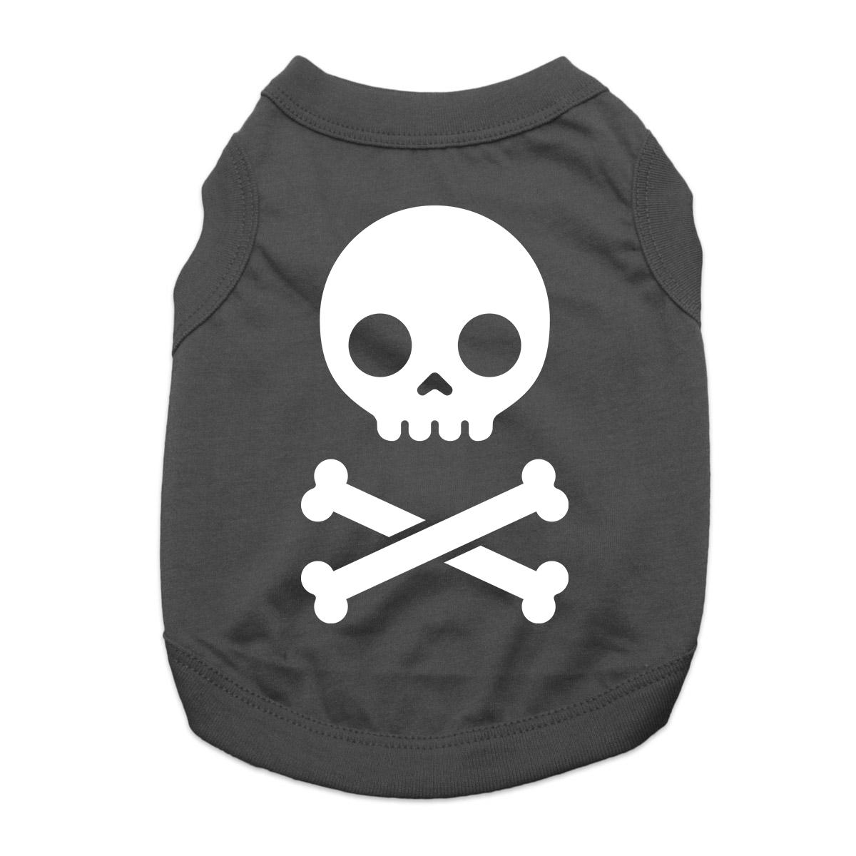 Skull and Bones Dog Shirt - Black