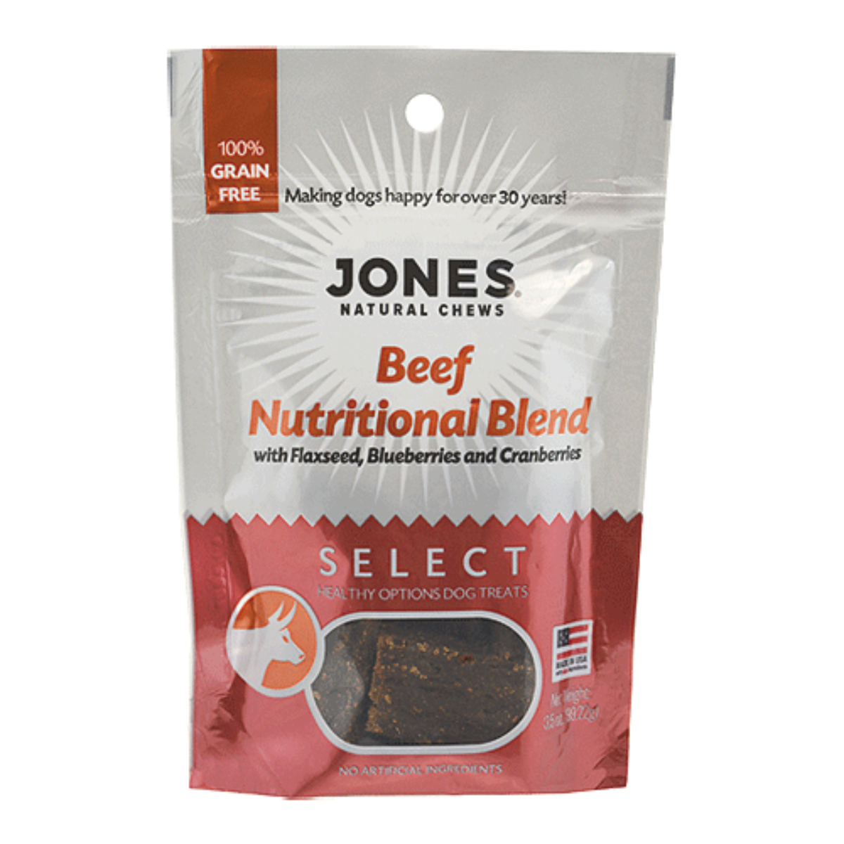 Jones Select Dog Treat - Beef Nutritional Blend