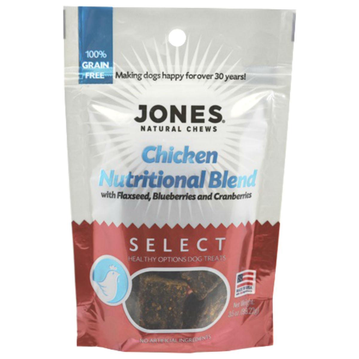 Jones Select Dog Treat - Chicken Nutritional Blend
