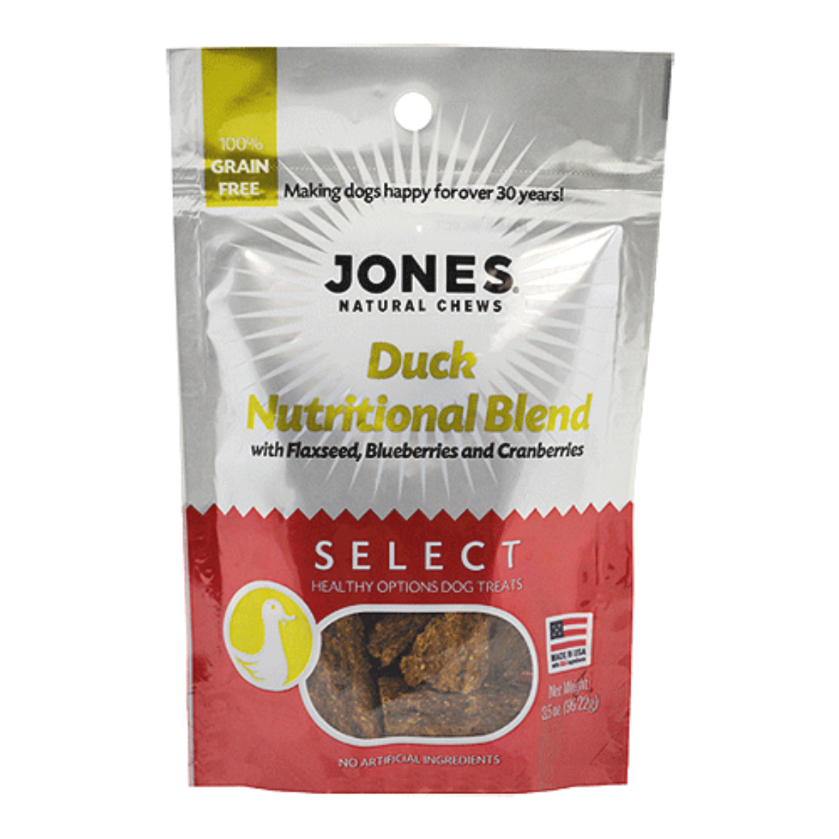 Jones Select Dog Treat - Duck Nutritional Blend