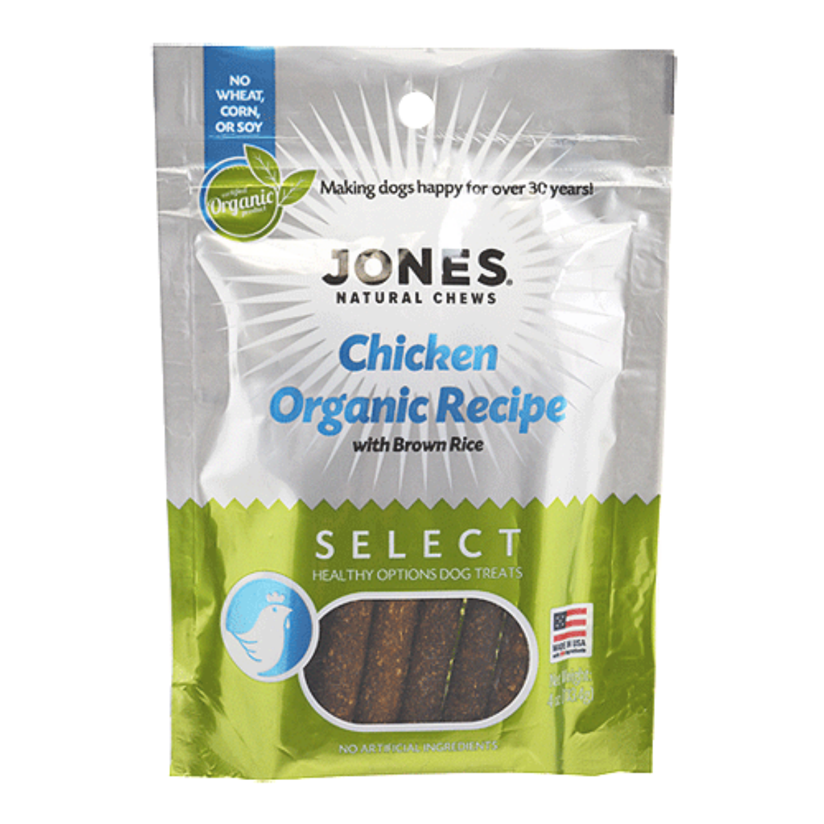 Jones Select Dog Treat - Chicken Organic Recipe