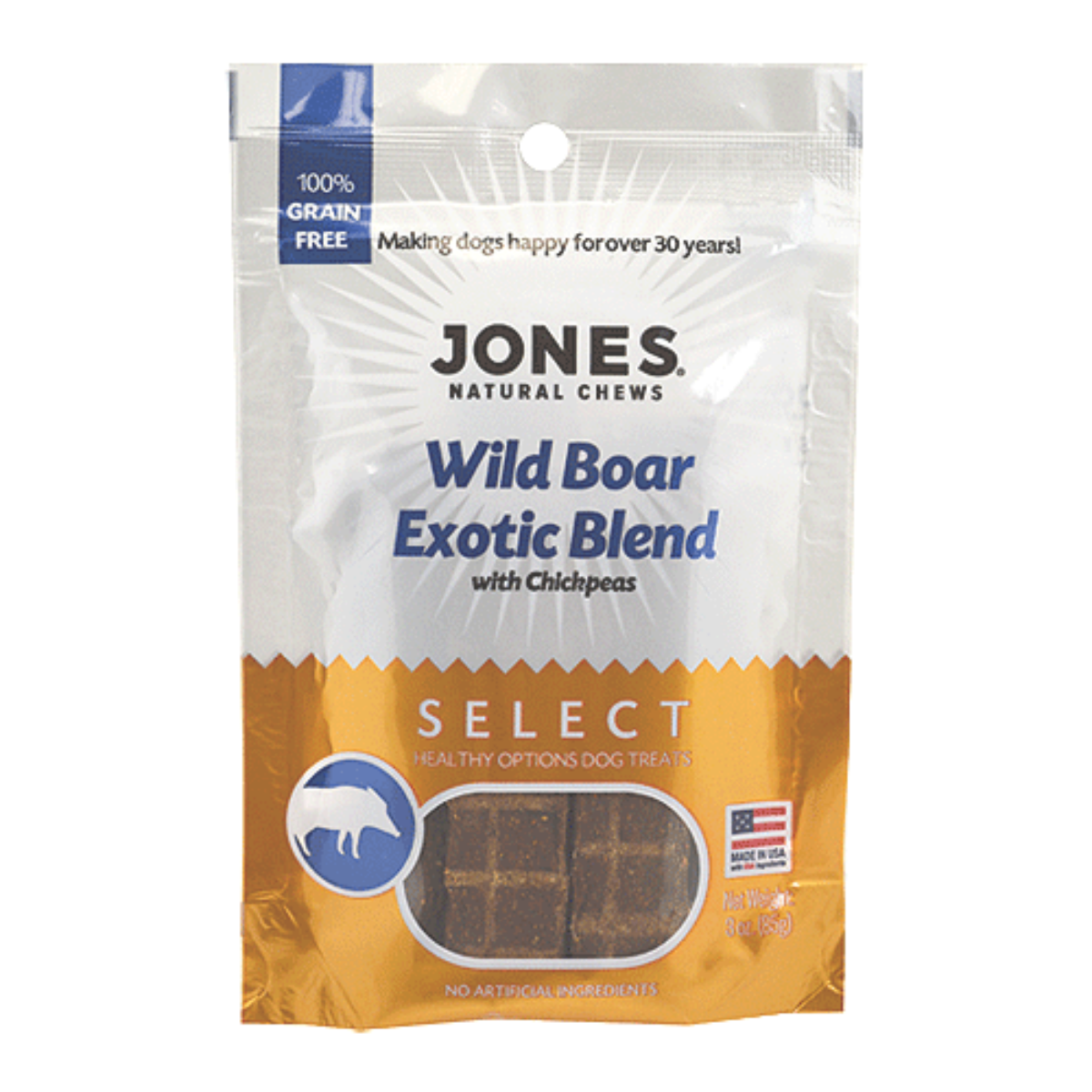 Jones Select Dog Treat - Wild Boar Exotic Blend