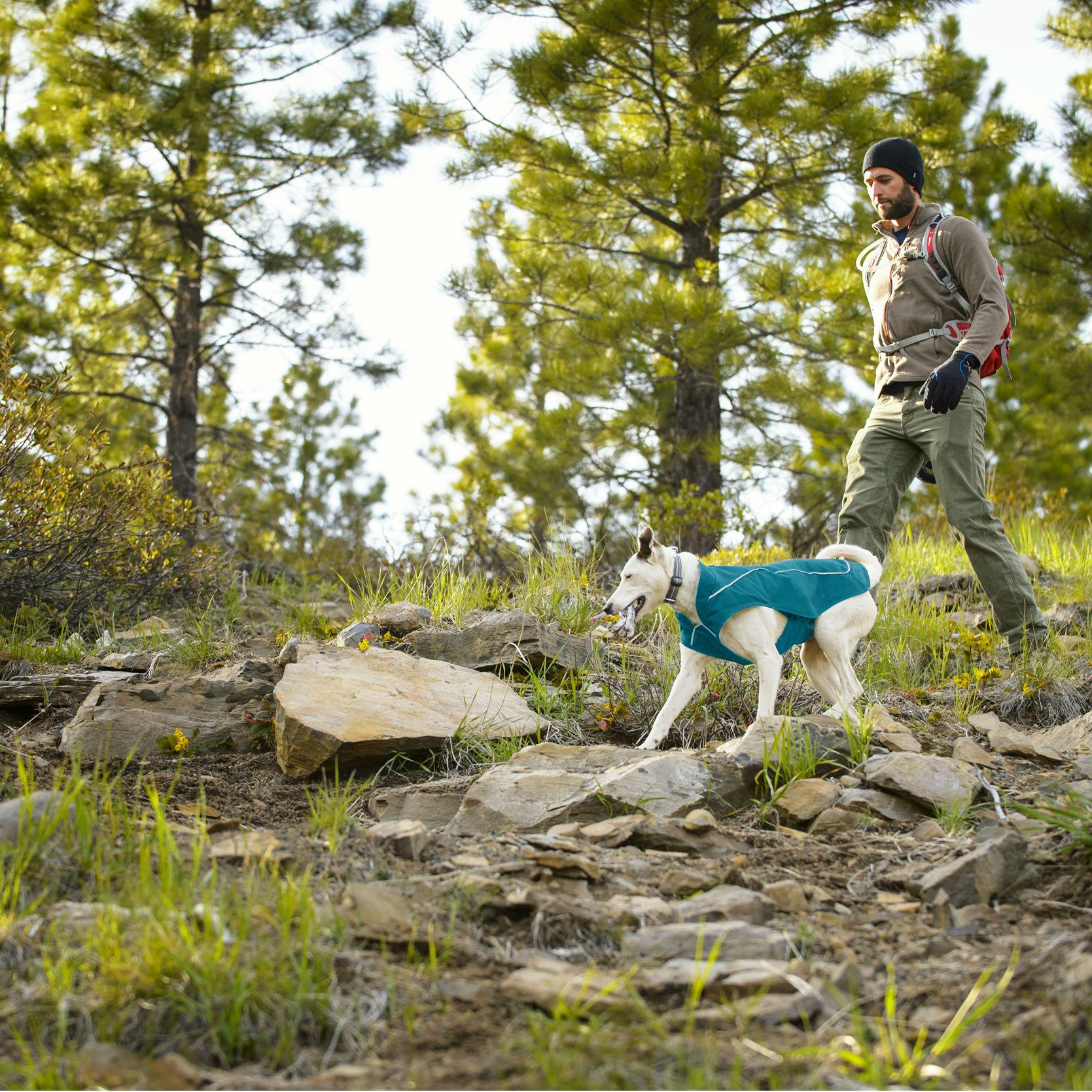 K-9 Overcoat Utility Dog Jacket by RuffWear - Baja Blue