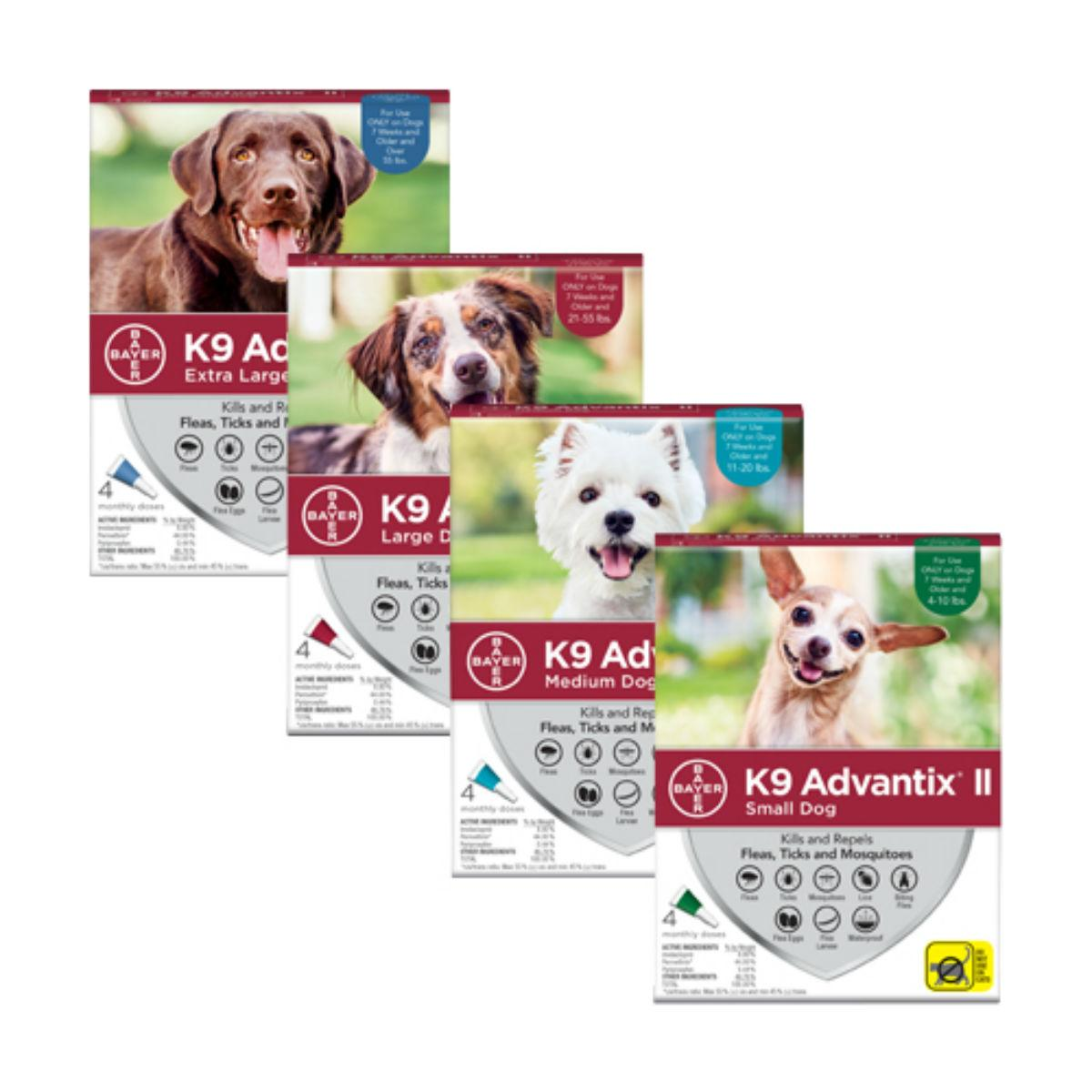 K9 Advantix II Flea and Tick Topical Dog Treatment - 4 Month Supply