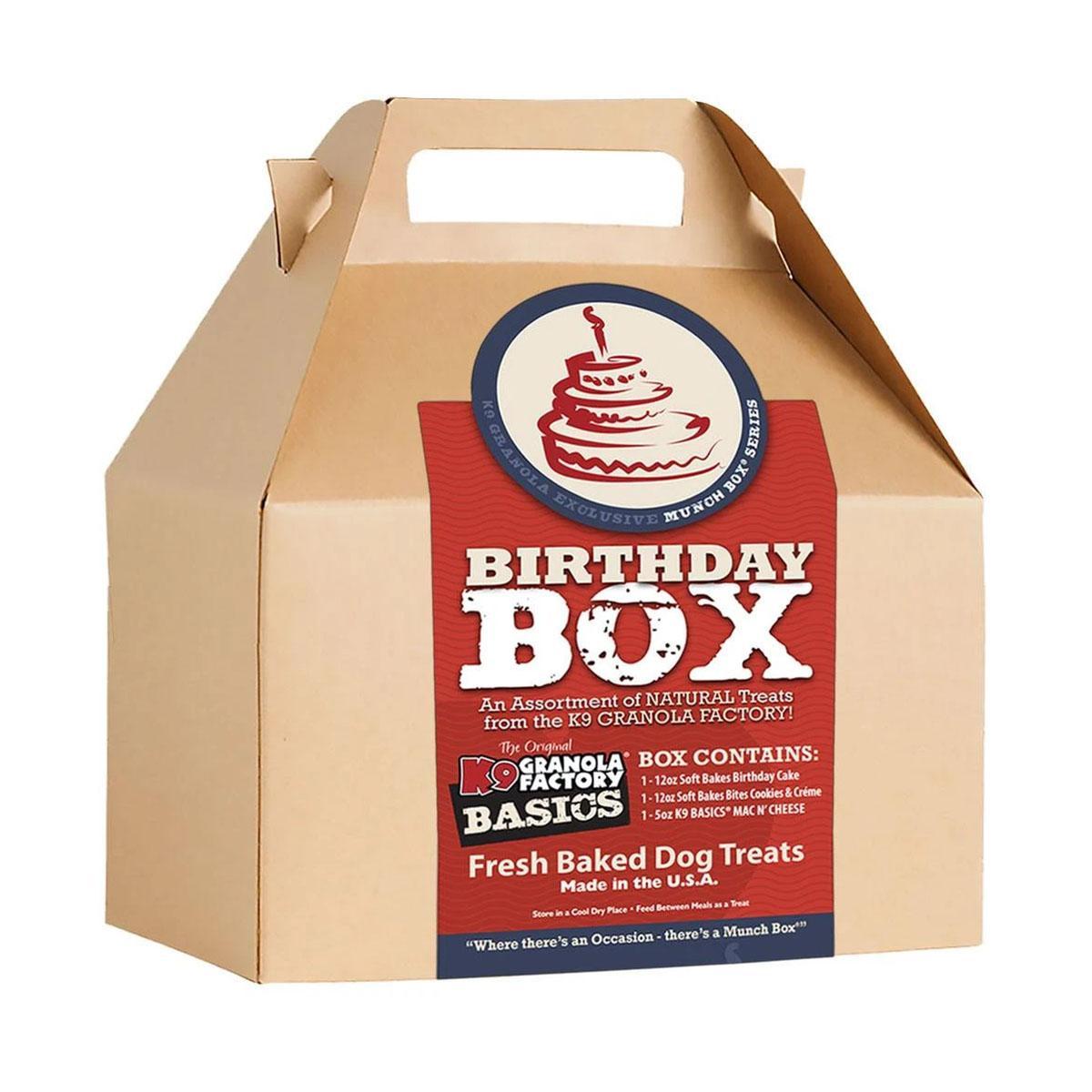 K9 Granola Factory Dog Treat Birthday Munch Box