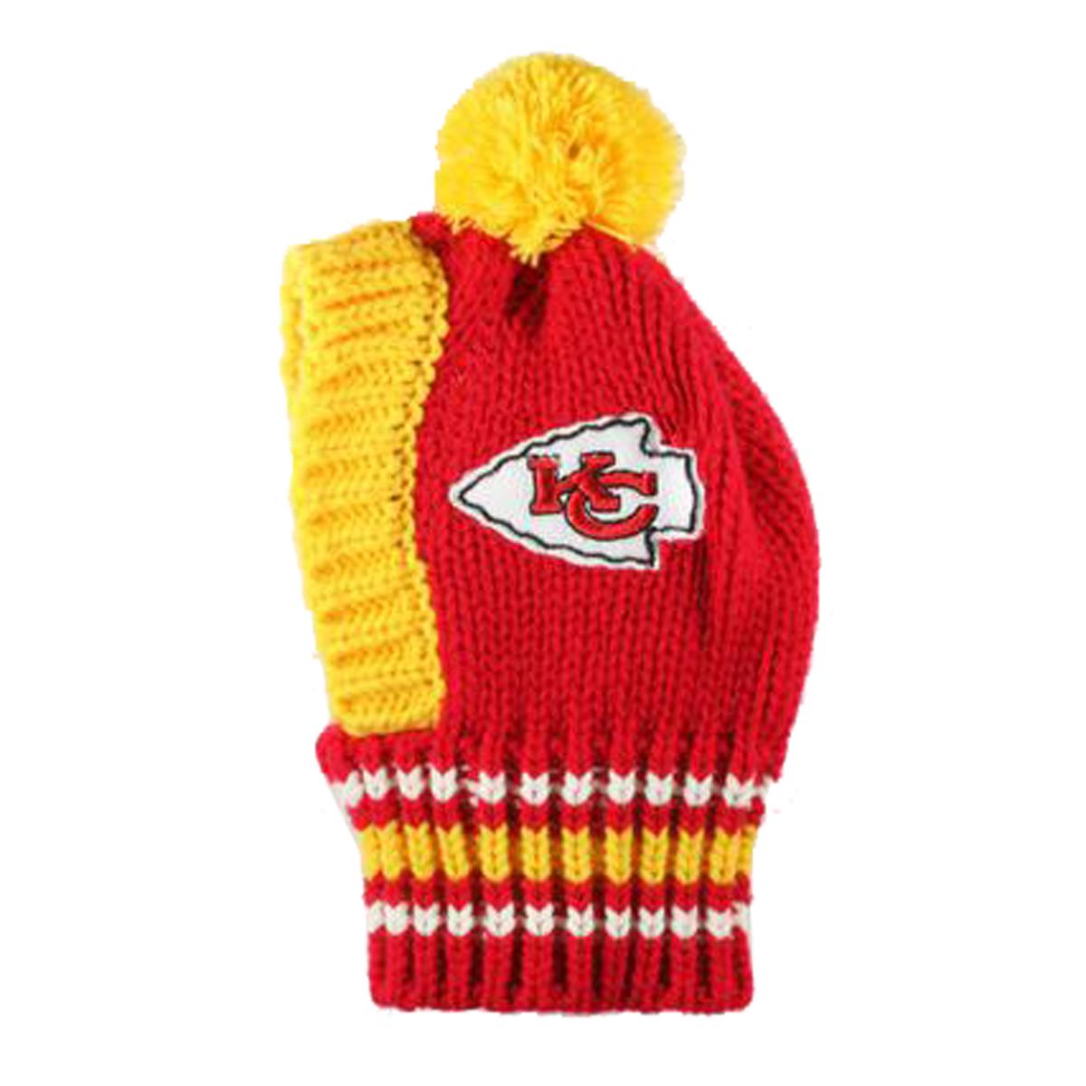 453632a76307db Kansas City Chiefs Knit Dog Hat   BaxterBoo