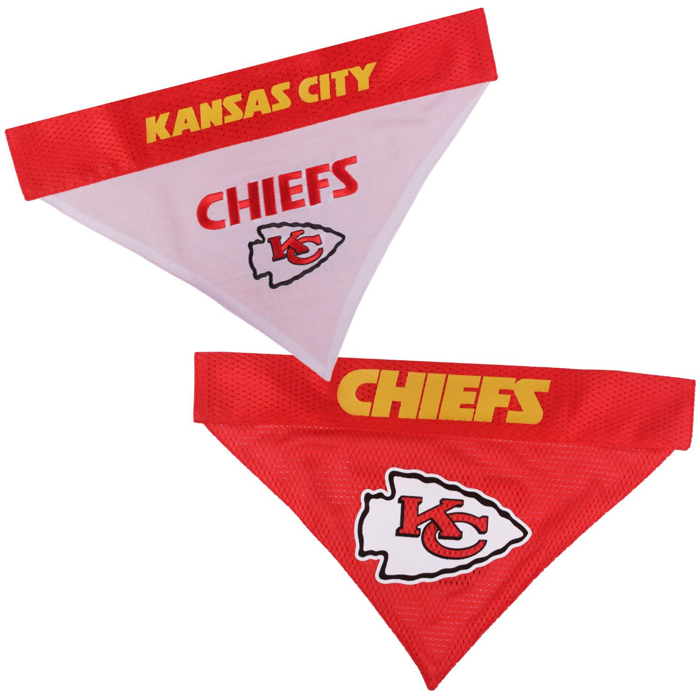 Kansas City Chiefs Reversible Dog Bandana Collar Slider