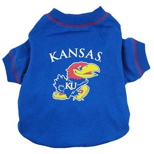 Kansas Jayhawks Athletics Dog T-Shirt - Blue