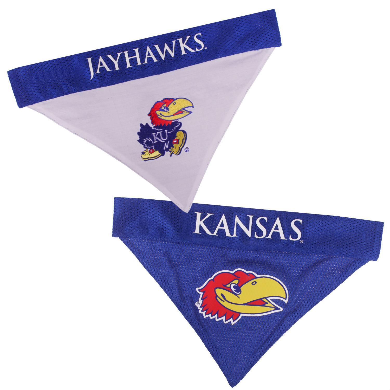 Kansas Jayhawks Reversible Dog Bandana Collar Slider