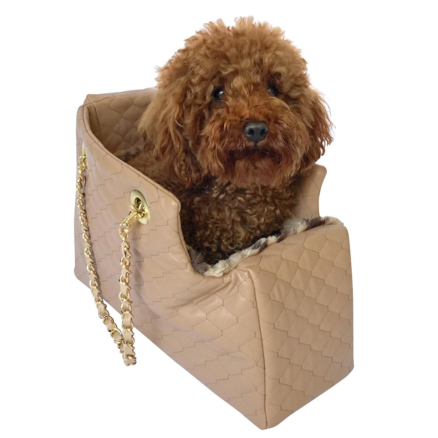 Kate Quilted Dog Carrier by The Dog Squad - Tan