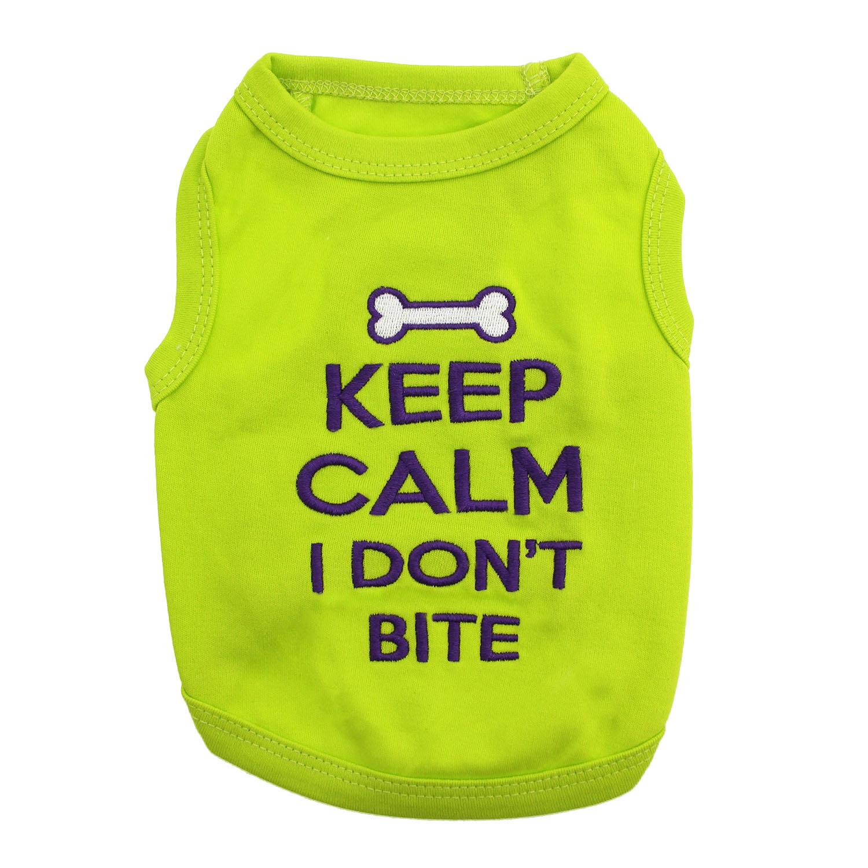 Keep Calm I Don't Bite Dog Tank - Green