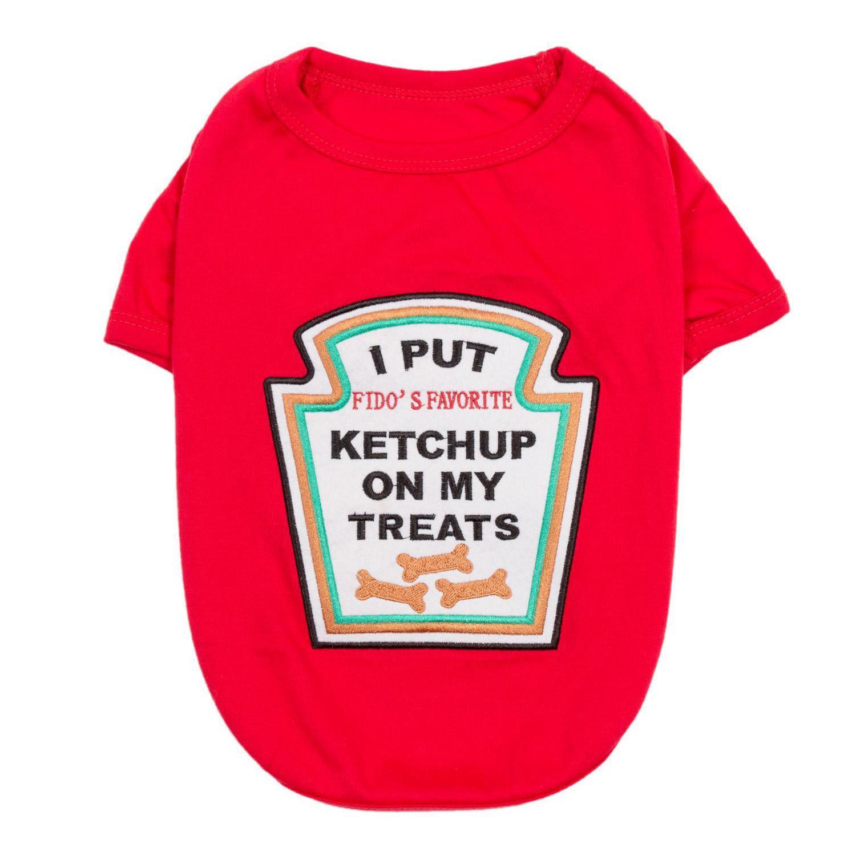 Ketchup Licker Dog Costume Shirt