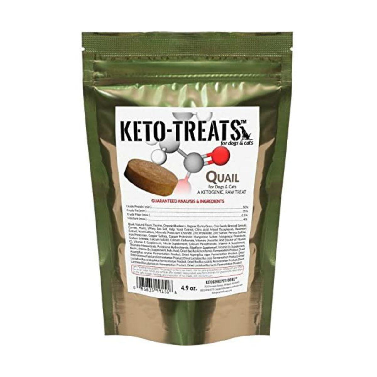 Ketogenic Pet Foods Keto-Treats™ Cat & Dog Treats - Quail