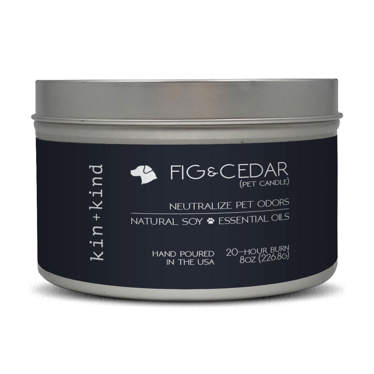 kin+kind Fig+Cedar Natural Pet-Odor Neutralizing Candle