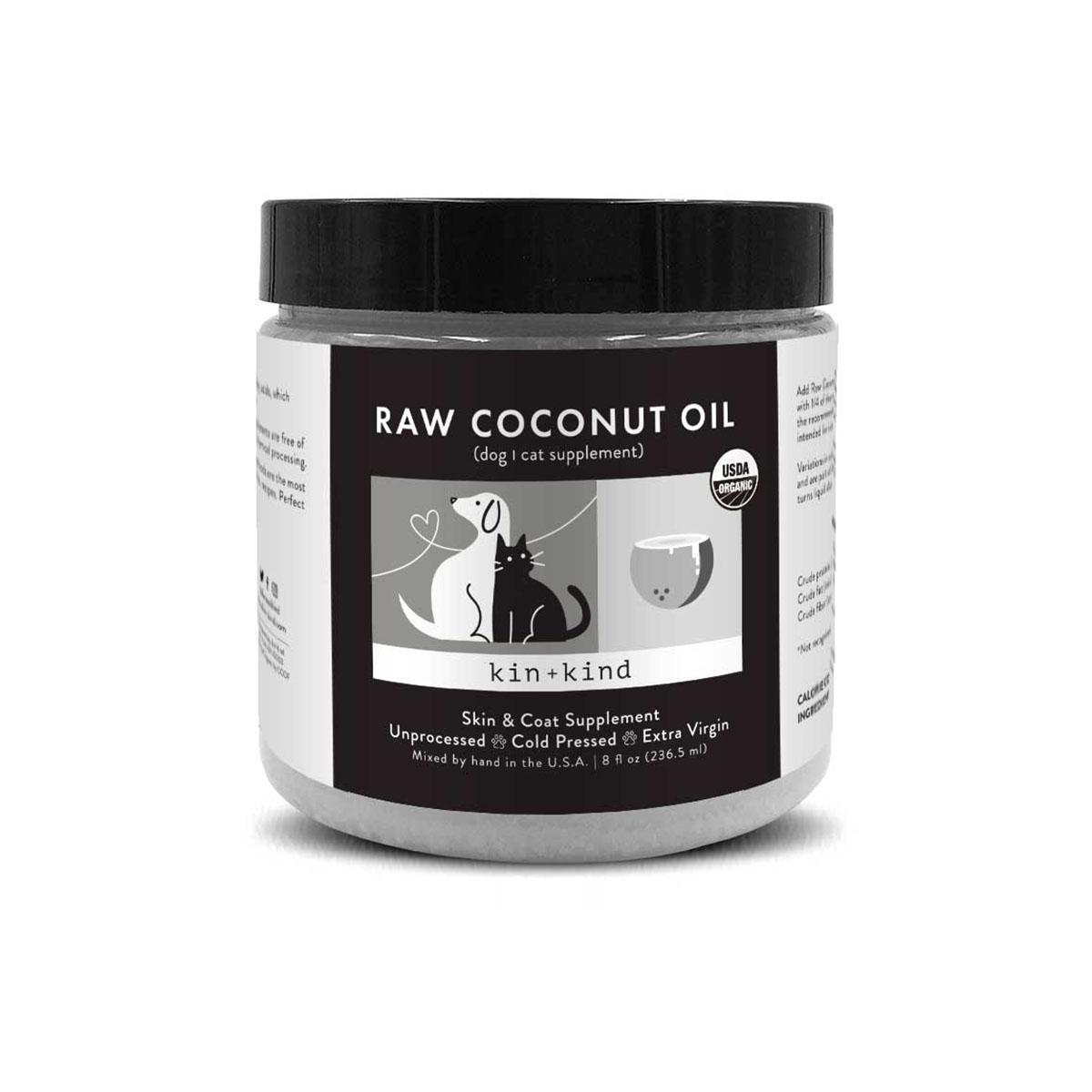 kin+kind Raw Coconut Oil Organic Skin & Coat Supplement For Dogs & Cats
