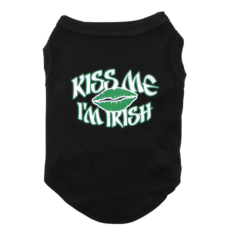 Kiss Me I'm Irish Dog Shirt - Black