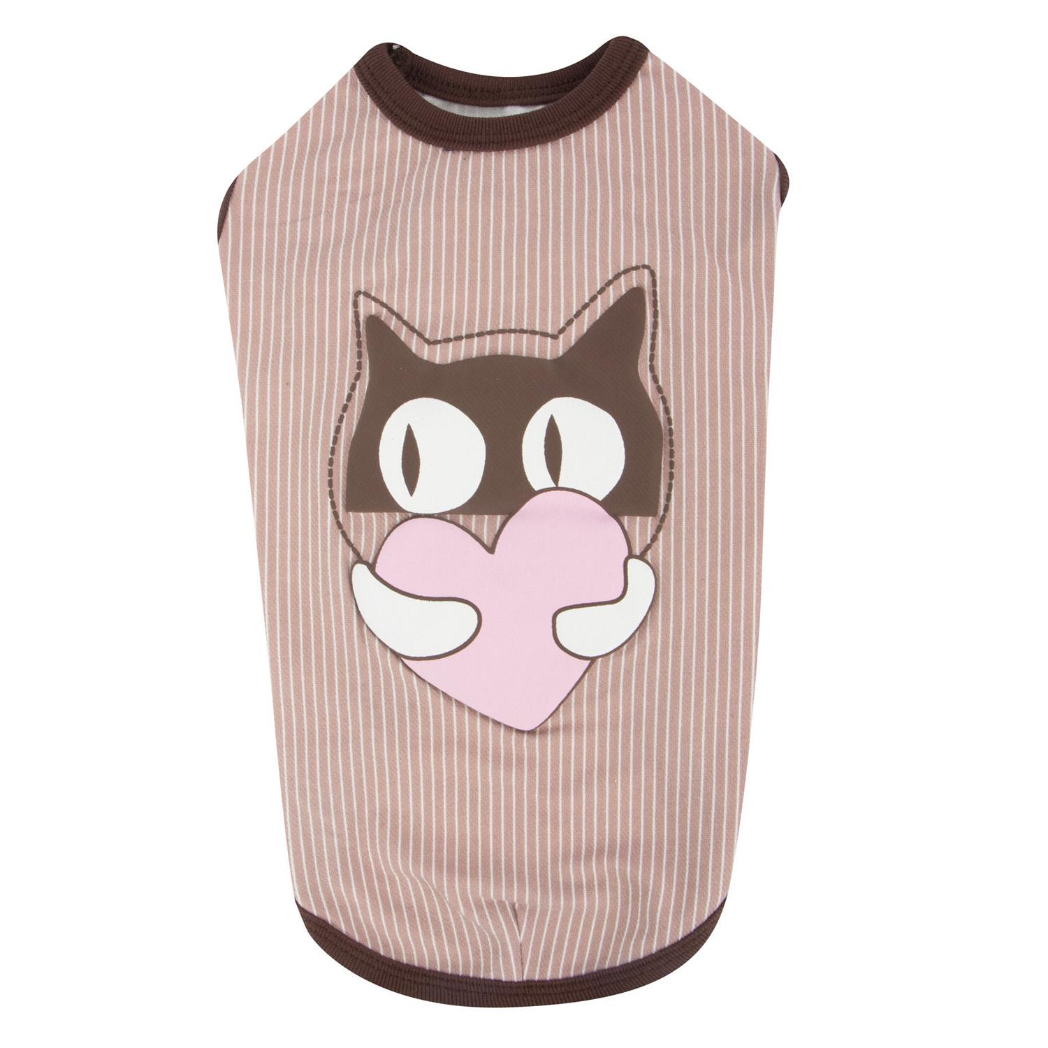 Kissie Cat Shirt by Catspia - Brown