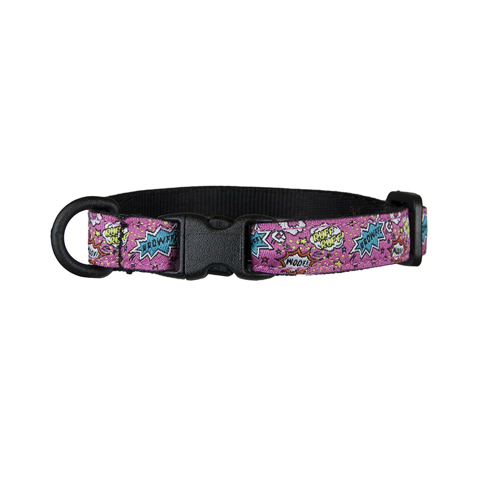 Kitty Breakaway Cat Collar - Pink Comic Sounds
