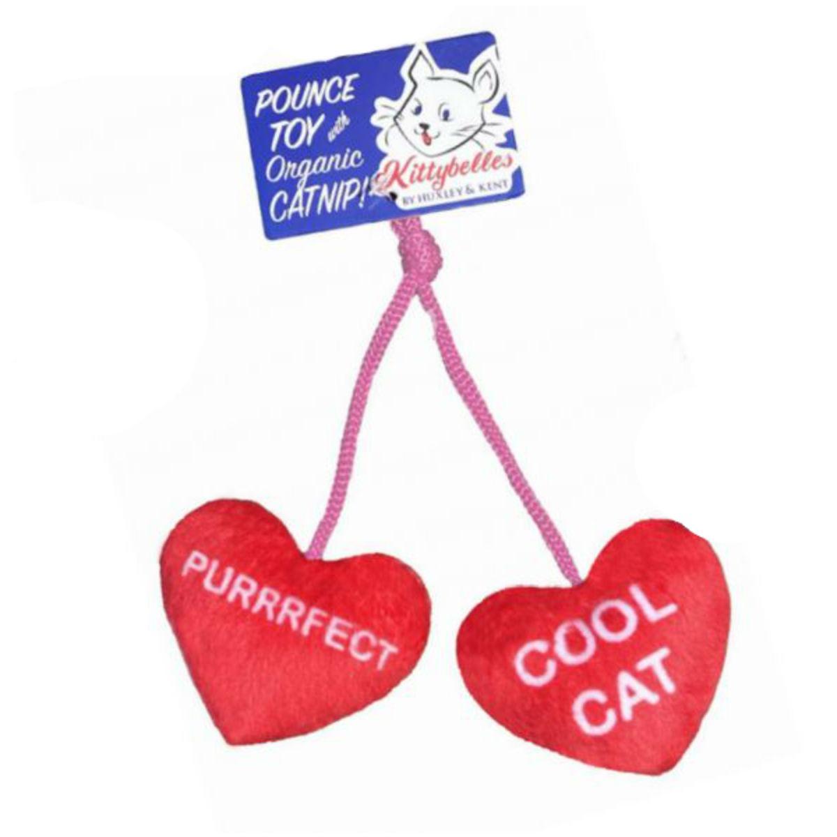 Kittybelles Heart Strings Plush Cat Toy
