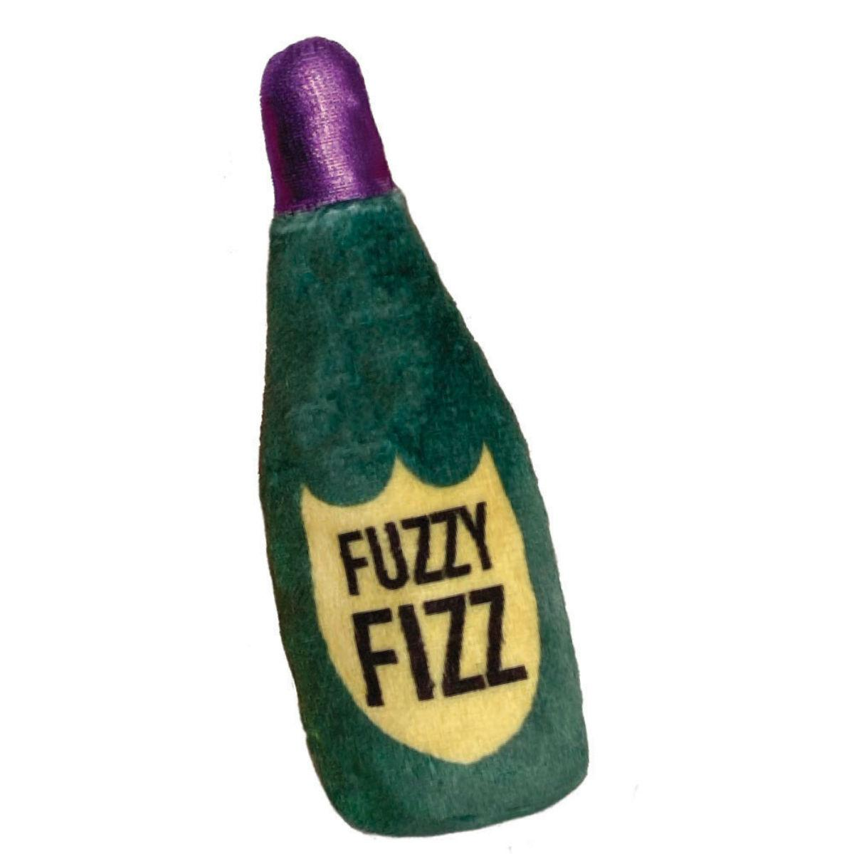 Kittybelles Fuzzy Fizz Plush Booze Cat Toy