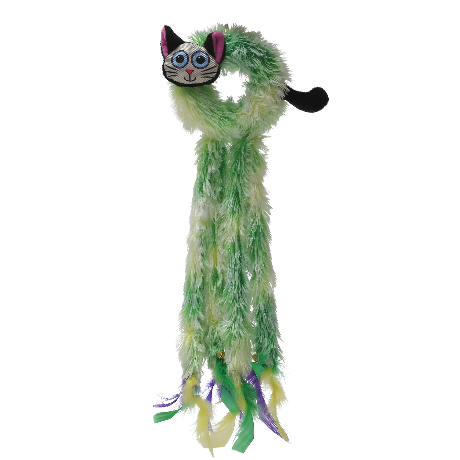Klawz Cat Toyz Doorknob Dangler by Happy Tails - Green Cat