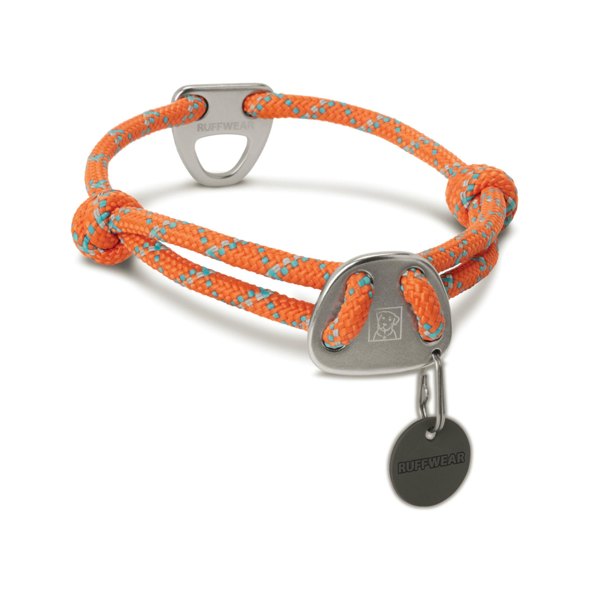 Knot-A-Collar Dog Collar by RuffWear - Pumpkin Orange