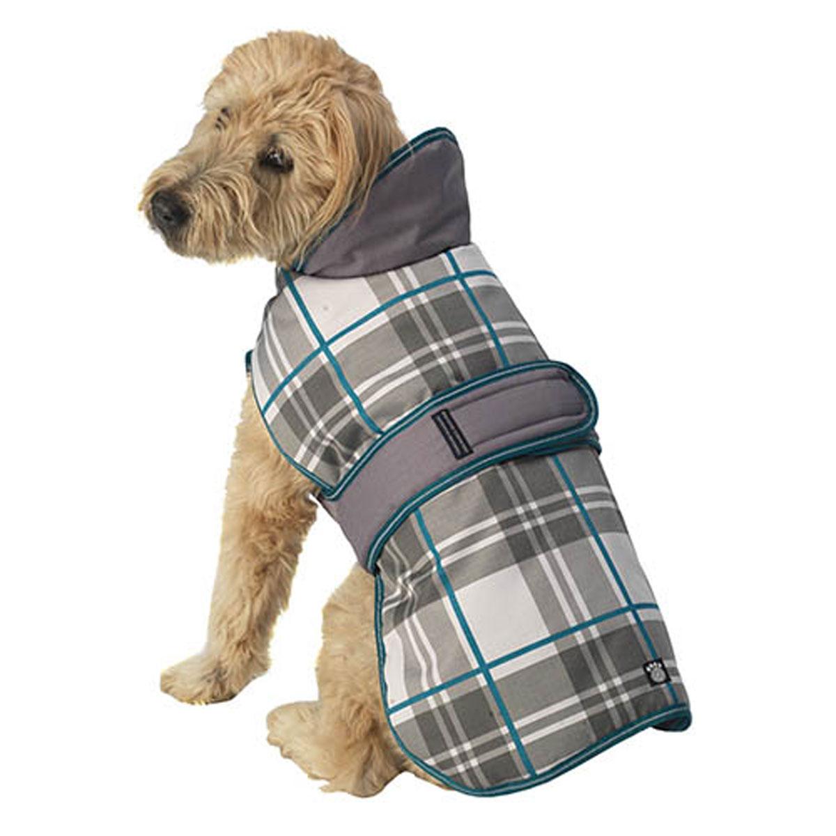 Kodiak Dog Coat - Aqua Plaid