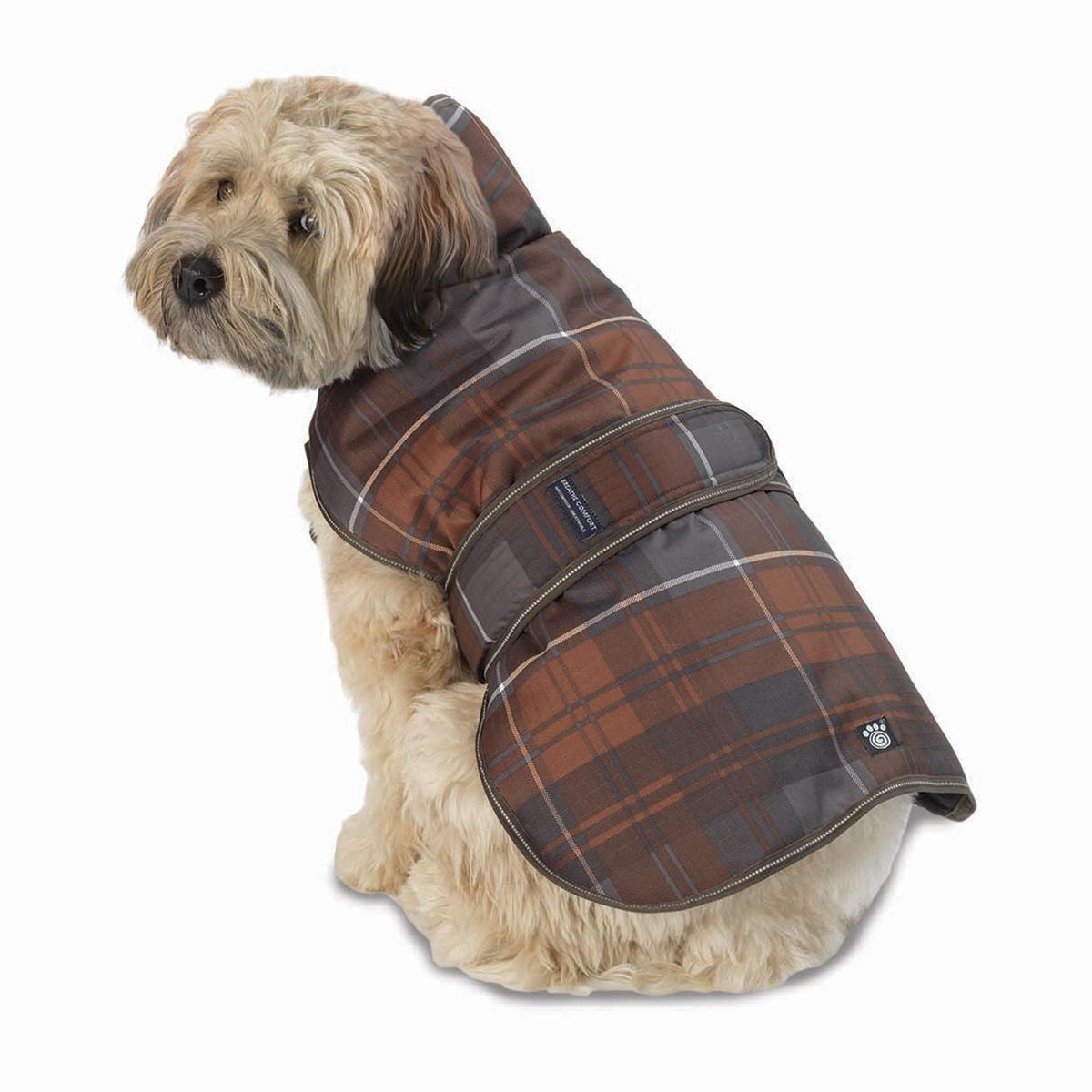 Kodiak Dog Coat - Bronze Plaid