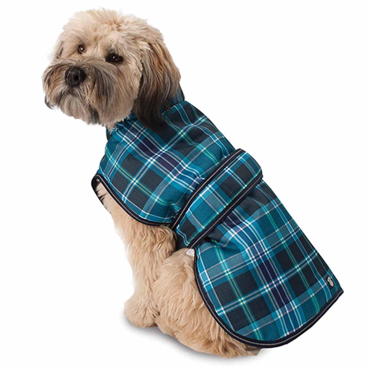 Kodiak Dog Coat - Teal Plaid