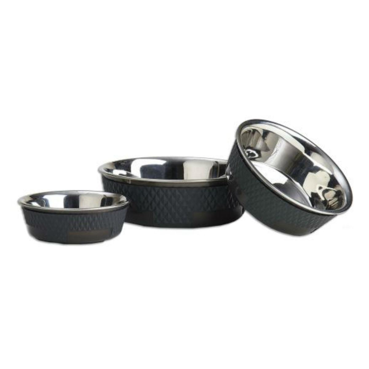 Kona Stainless Steel Dog Bowl - Charcoal