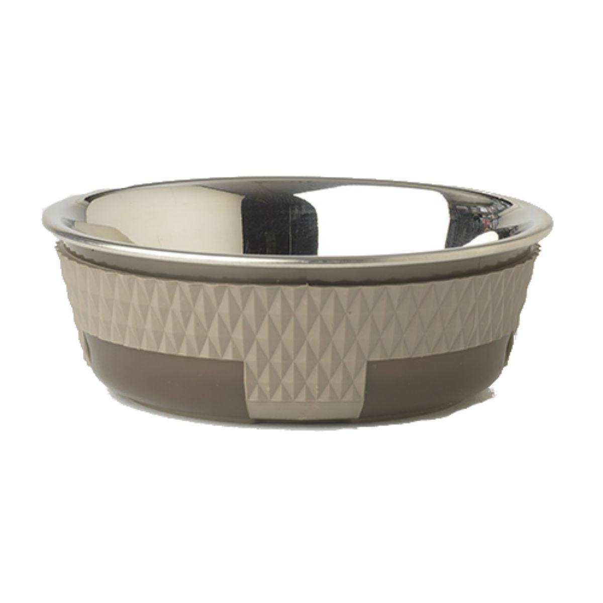 Kona Stainless Steel Dog Bowl - Taupe