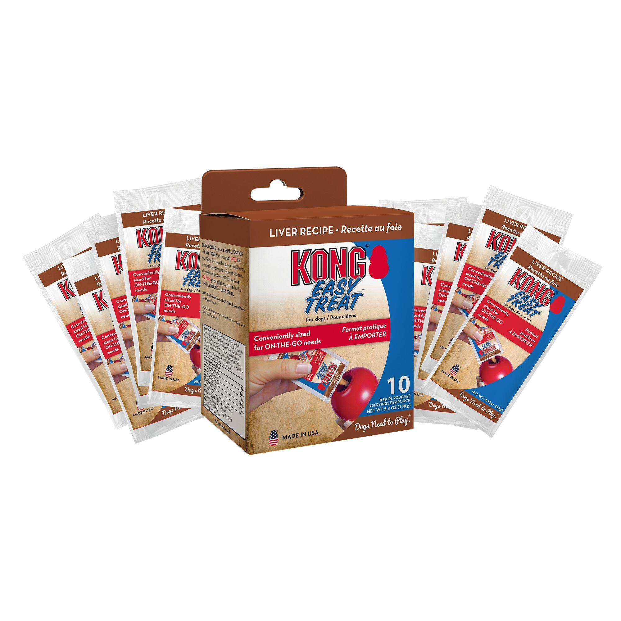 KONG Easy Treat To Go Dog Treat - Liver Flavor