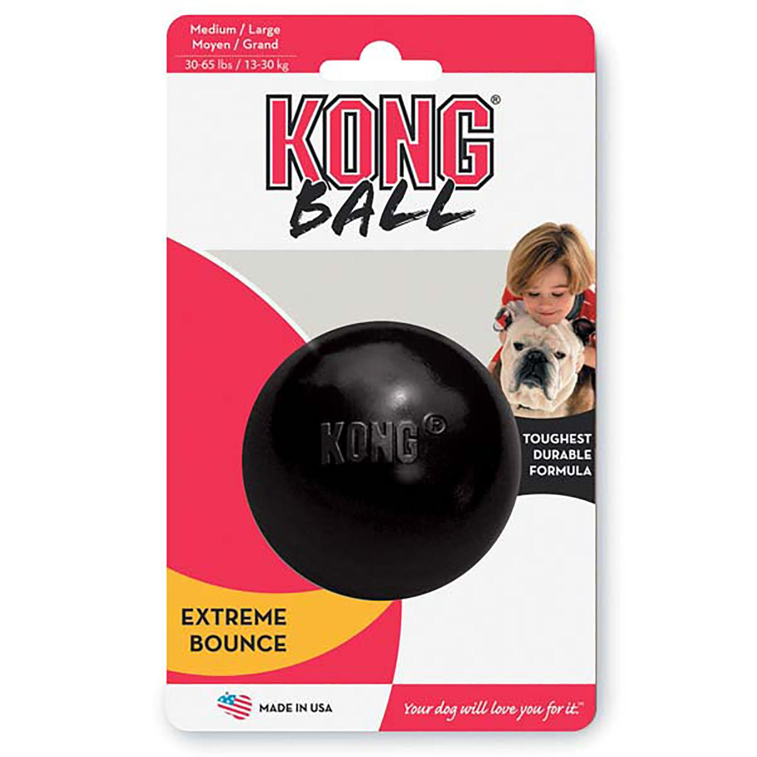 KONG Extreme Ball Dog Toy - Black