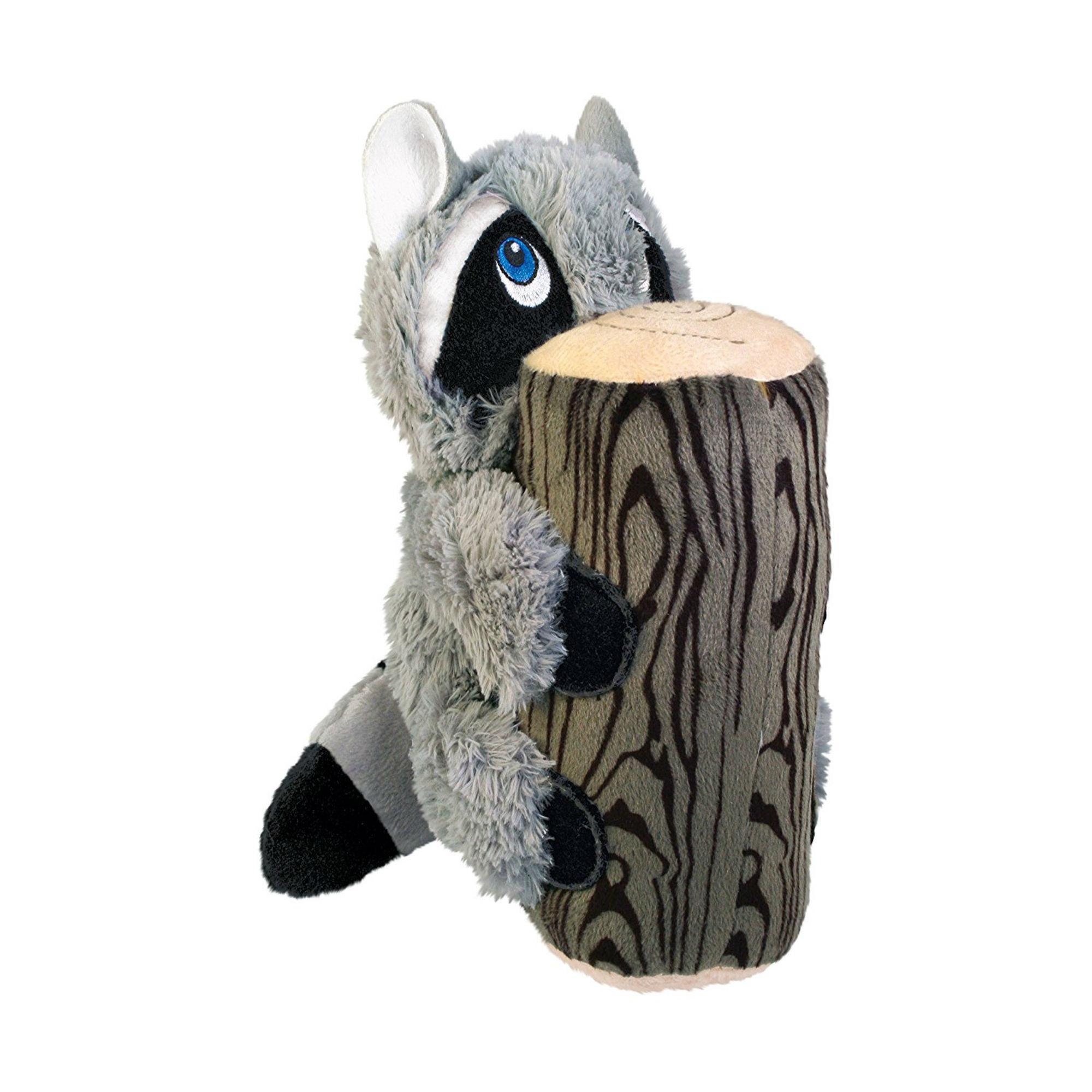 KONG Huggz Hiderz Dog Toy - Raccoon
