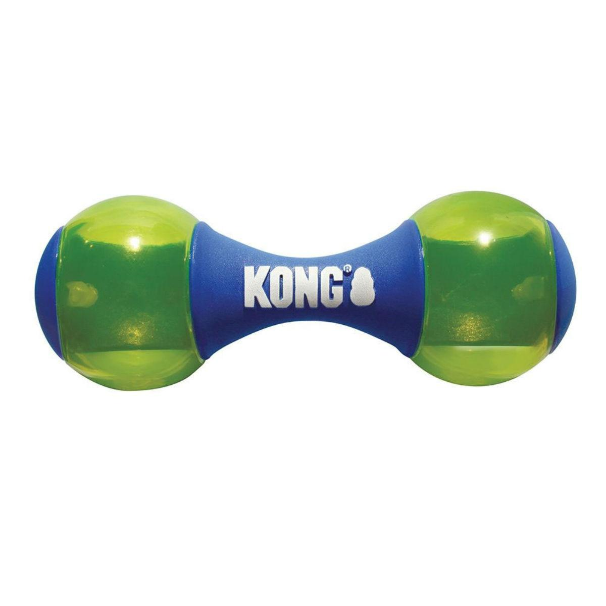 KONG Squeezz Action Dog Toy - Dumbbell