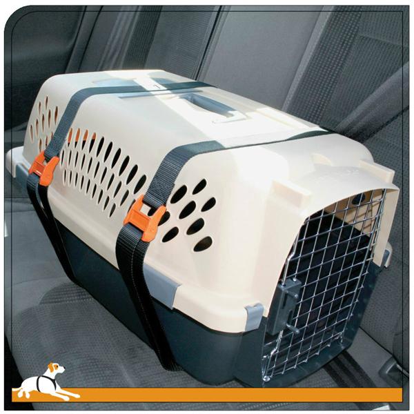 Kurgo Pet Carrier Keeper Car Straps - Black