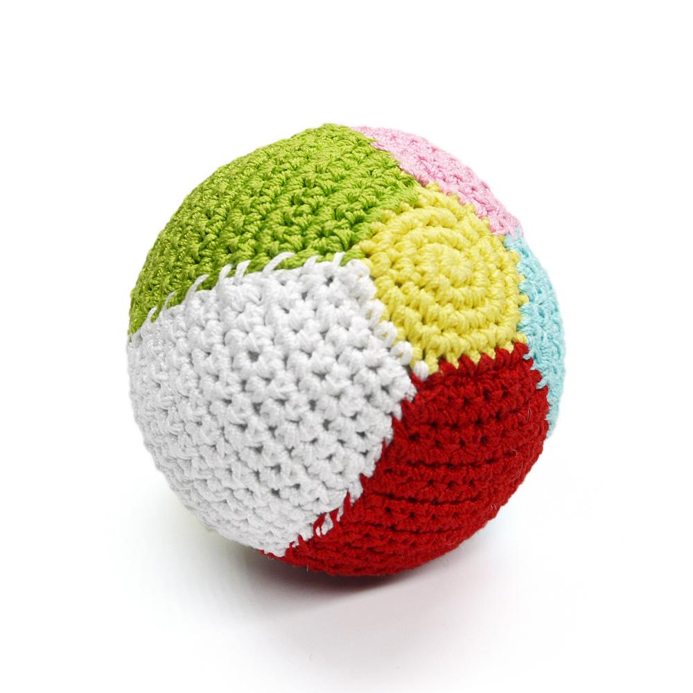 Beach Ball Crochet Dog Toy by Dogo