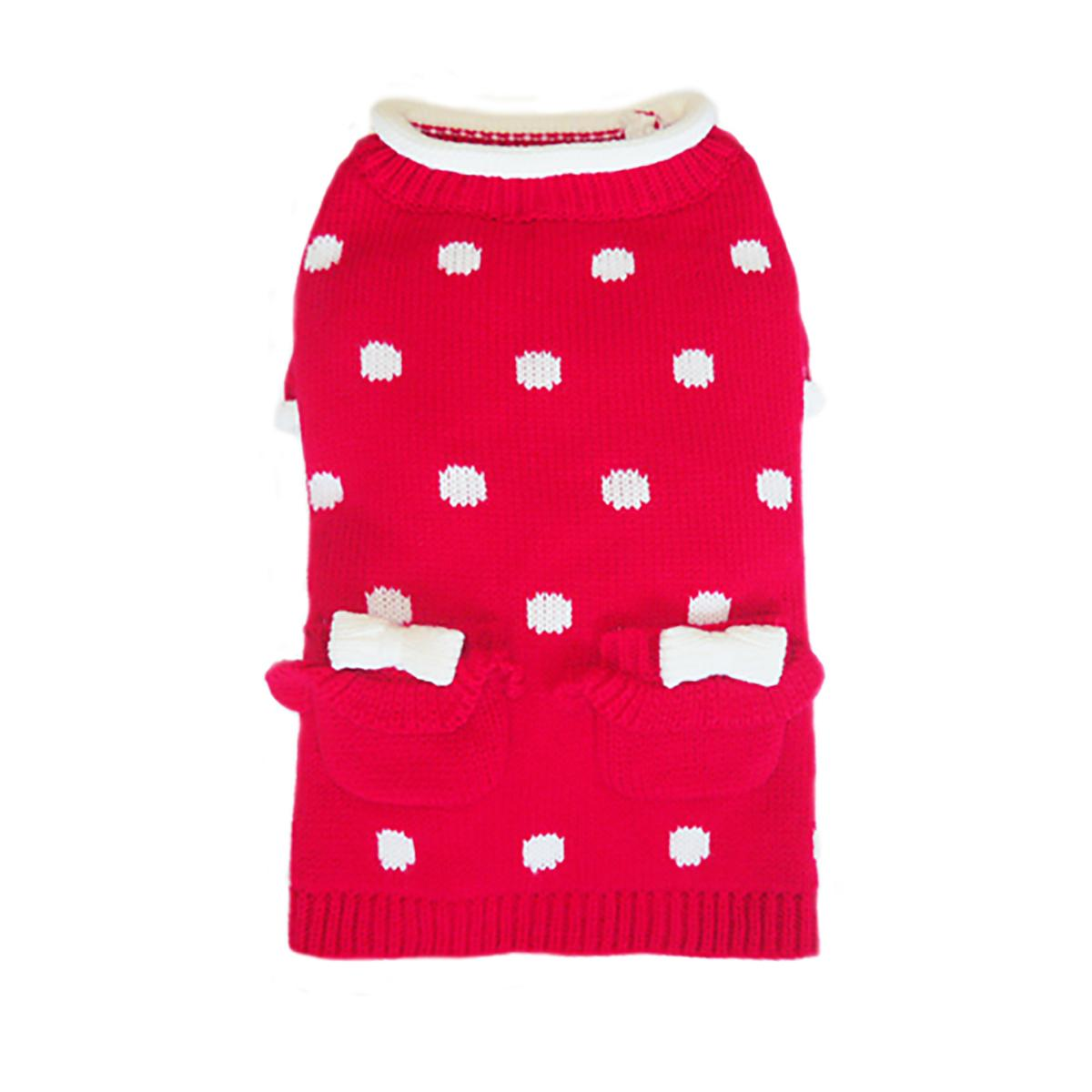 Lala Dog Sweater - Red