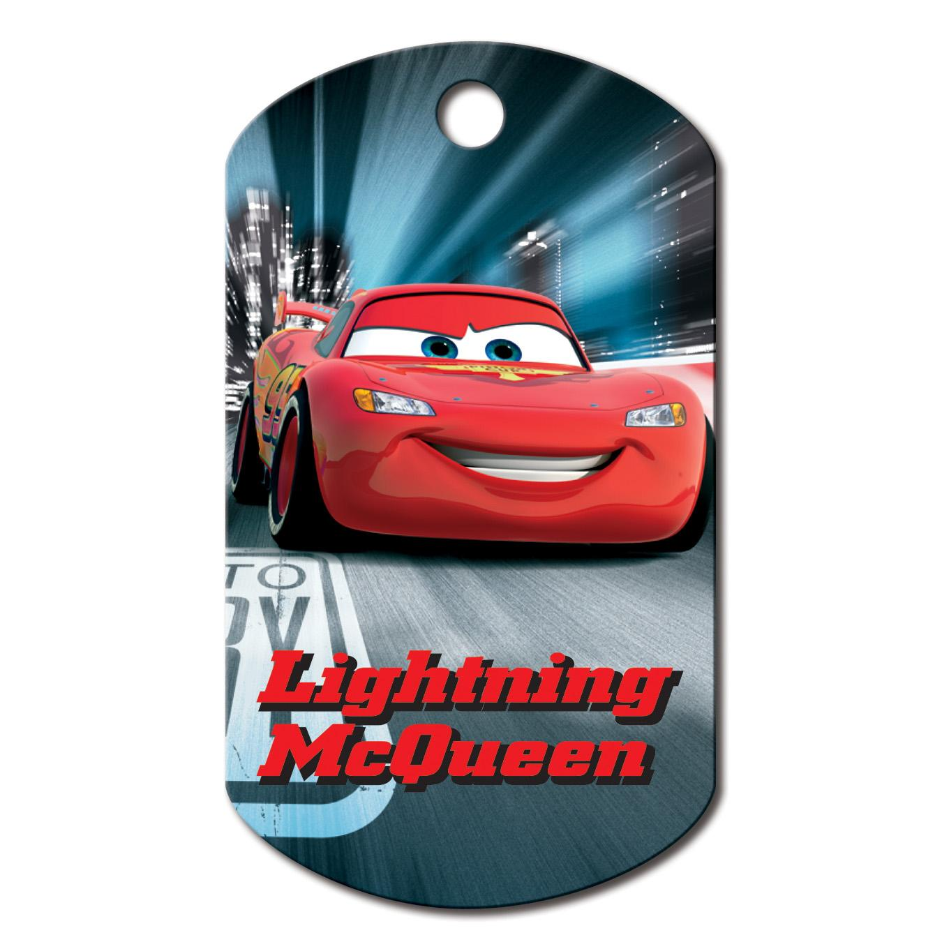 Large Military Engravable Pet I.D. Tag - Disney Lightning McQueen