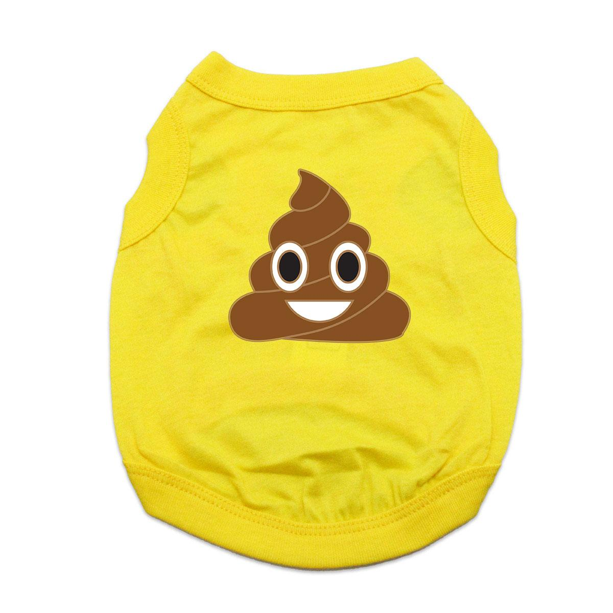 Poop Emoji Dog Shirt - Yellow