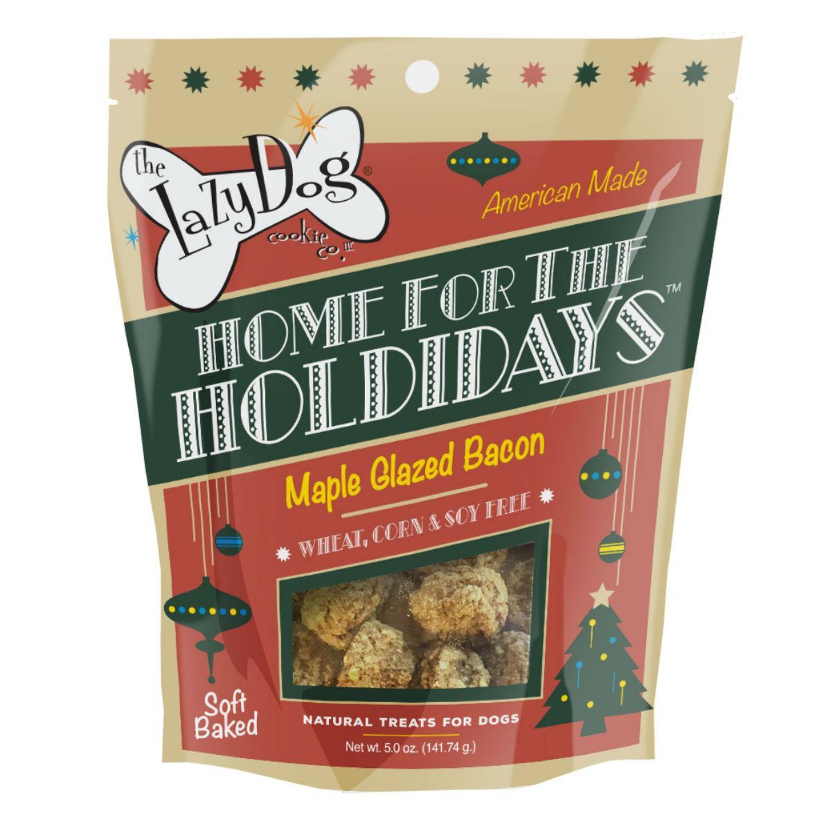The Lazy Dog Home for the Holidays Dog Treats - Maple Glazed Bacon