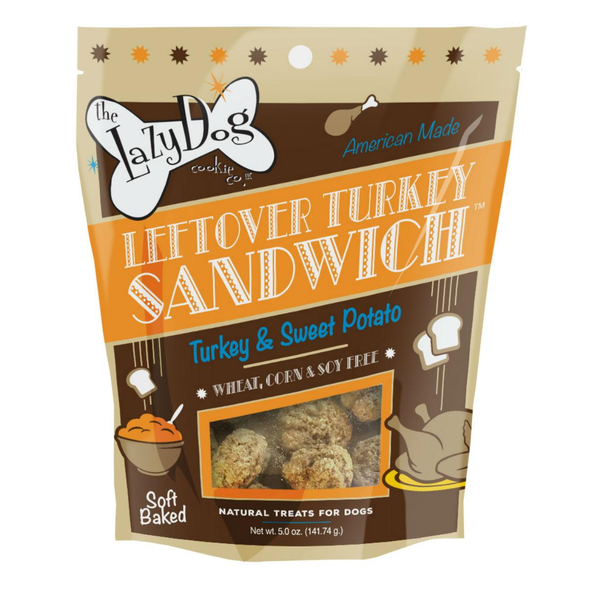 The Lazy Dog Leftover Turkey Sandwich Dog Treats - Turkey & Sweet Potato
