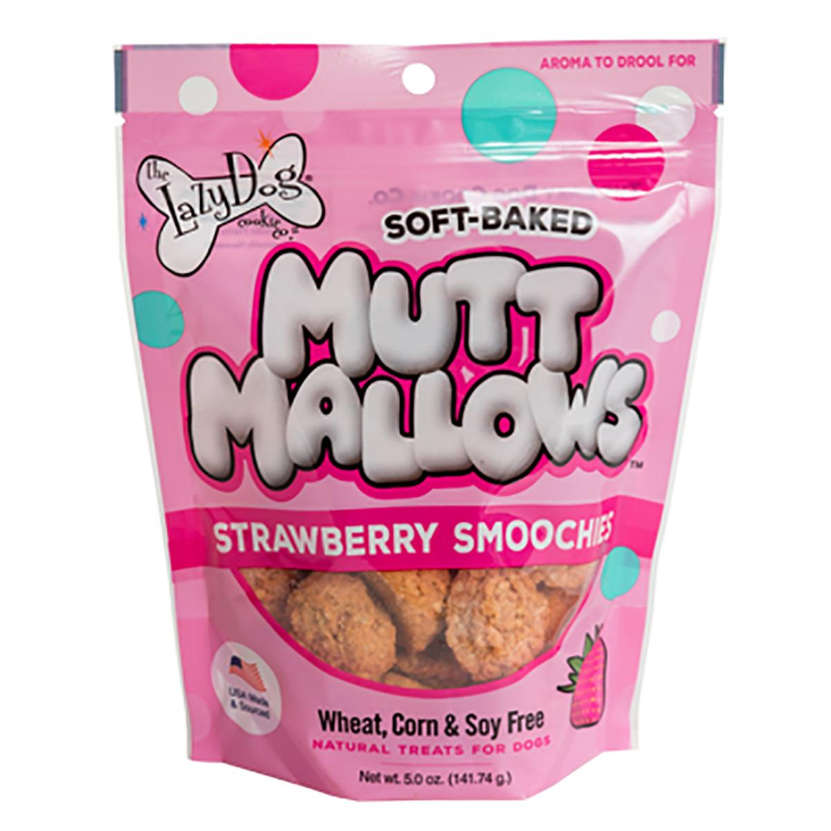 The Lazy Dog Mutt Mallow Soft-Baked Dog Treats - Strawberry Smoochies