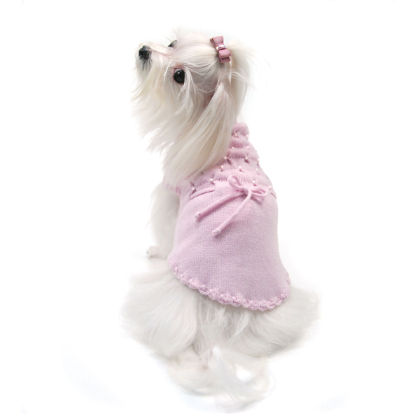 Leave Me Breathless Dog Sweater Dress by Oscar Newman