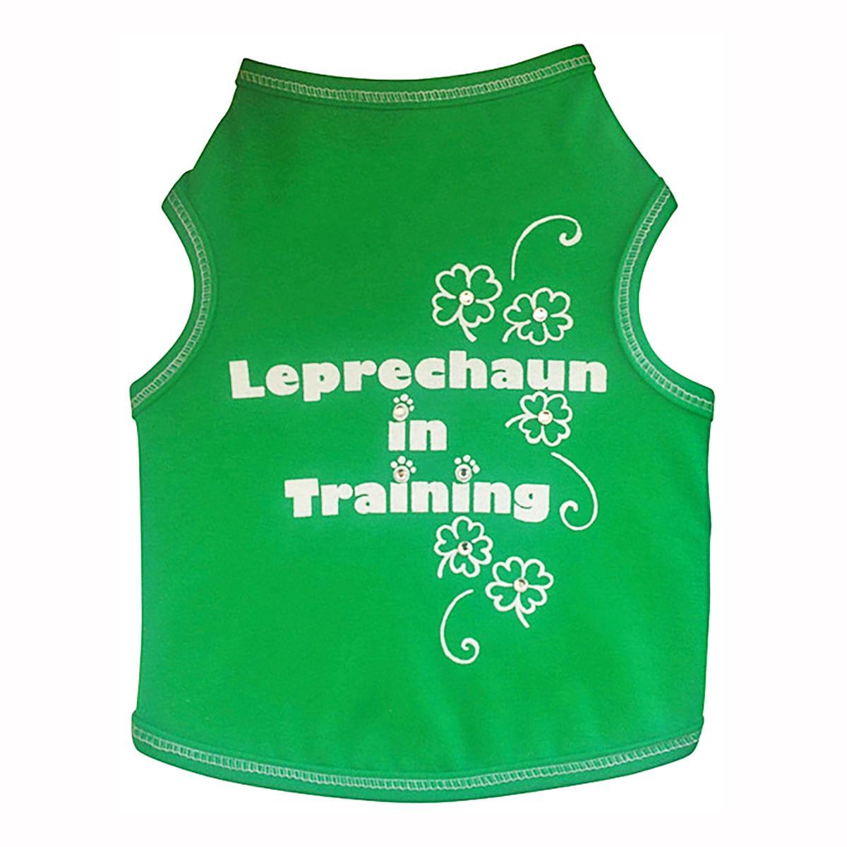 Leprechaun in Training Dog Tank - Green