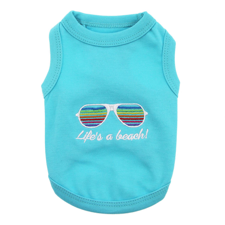 Life's a Beach Dog Tank - Blue