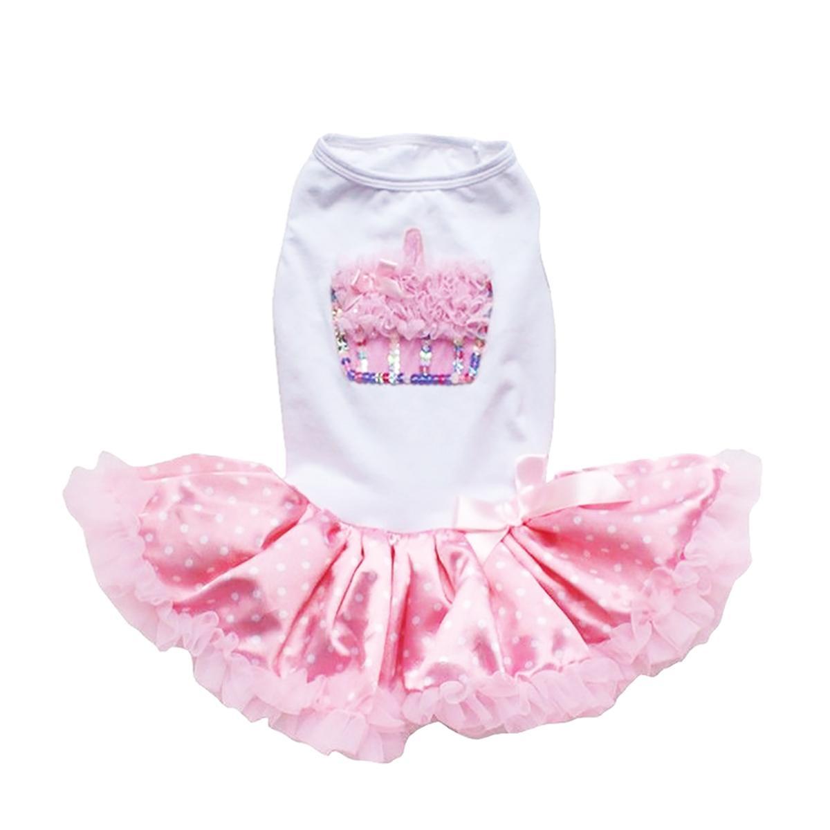 Light Pink Cupcake Dog Dress by Pawpatu